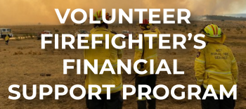 Volunteer firefighter's financial support program