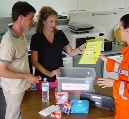ACTSES Volunteer with Home Emergency Kit